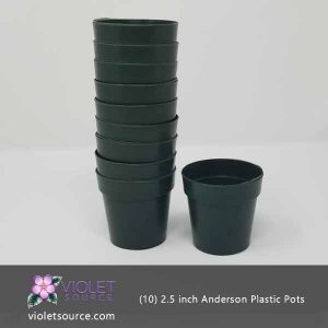 (10) Anderson 2.5 Inch Round Plastic Pot for Seedlings & Flowering Plants