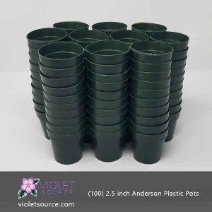 (100) Anderson 2.5 Inch Round Plastic Pot for Seedlings & Flowering Plants