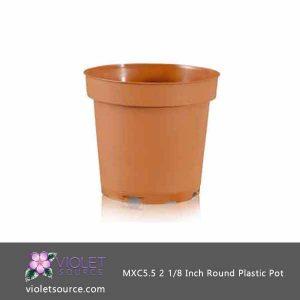 (10) Poppelmann TEKU MXC5.5, 2 1/8 Inch Round Plastic Pots  (5.5 cm.)