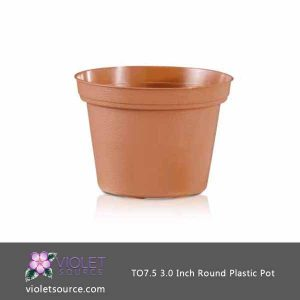 (10) Poppelmann TEKU TO7.5, 3 Inch Round Plastic Pots  (7.5 cm.)