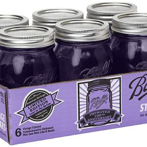 Authentic Purple Ball Mason 100TH Anniversary Vintage Style Pint Jar